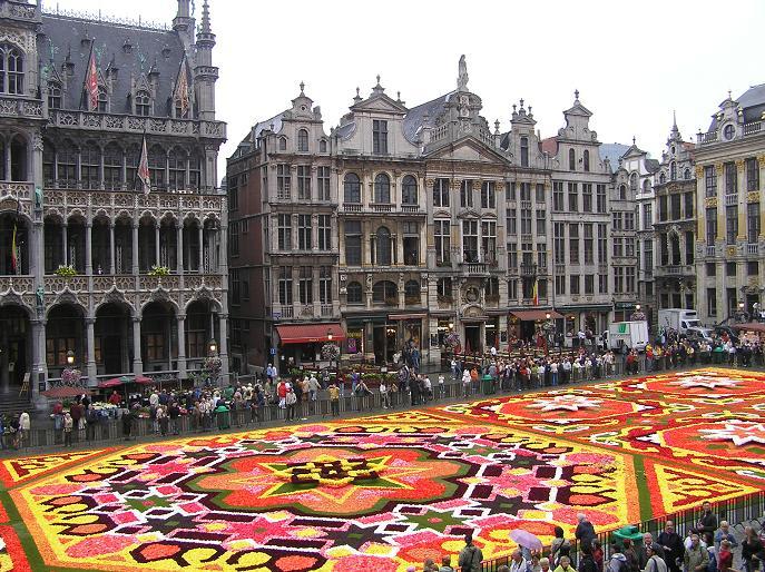 La alfombra de flores en Bruselas
