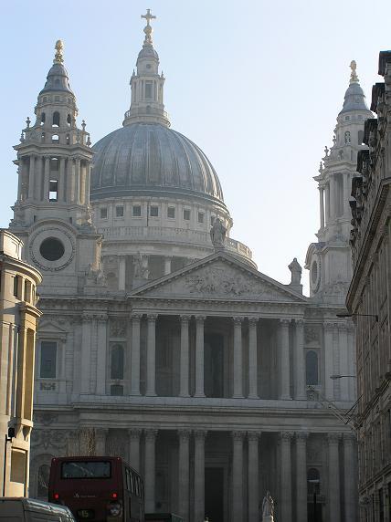 La Catedral de St. Paul de Londres, en foto