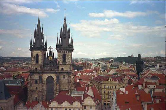 Vistas de Praga y Nuestra Señora de Tyn