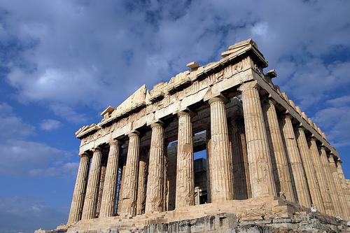 El Partenon en Atenas