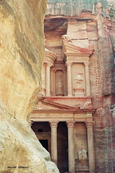 Vista de Petra desde el desfiladero 02