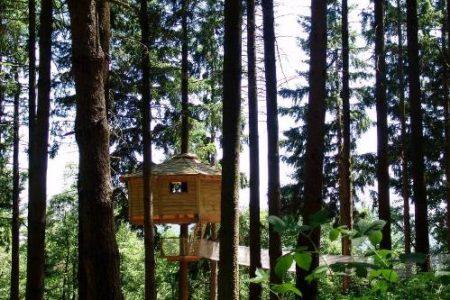 Cabañas en los árboles, en Gerona