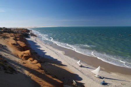 Playa Canoa Quebrada, kitesurf en Brasil