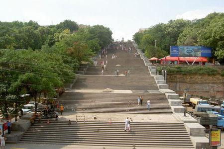 Las escaleras Potemkim, símbolo de Odessa