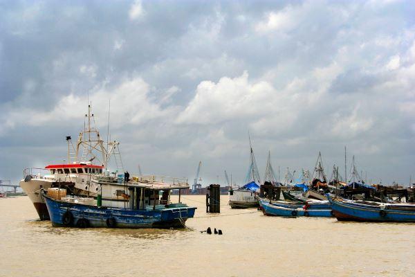 El puerto de Paramaribo