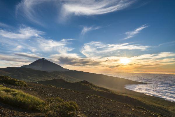 Vista de Tenerife con Teide