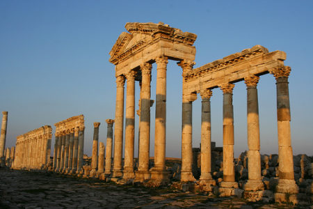 Las ruinas de Apamea, en Siria