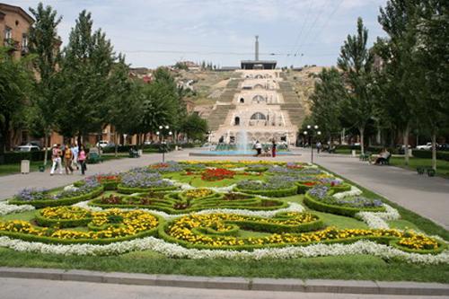 cascada en Yerevan
