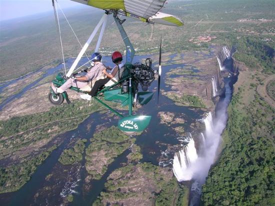 Cataratas Victoria desde el aire
