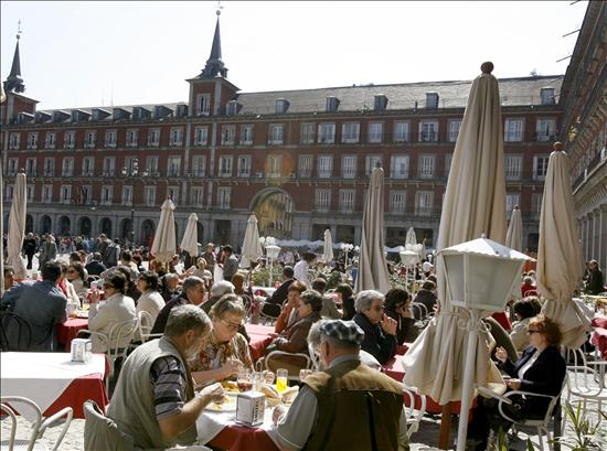 Turistas extranjeros en Madrid