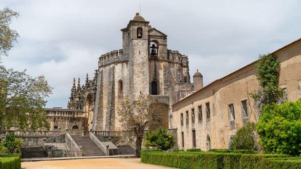 Caballeros del castillo de los Templarios o conventos de Cristo, Tomar, Portugal