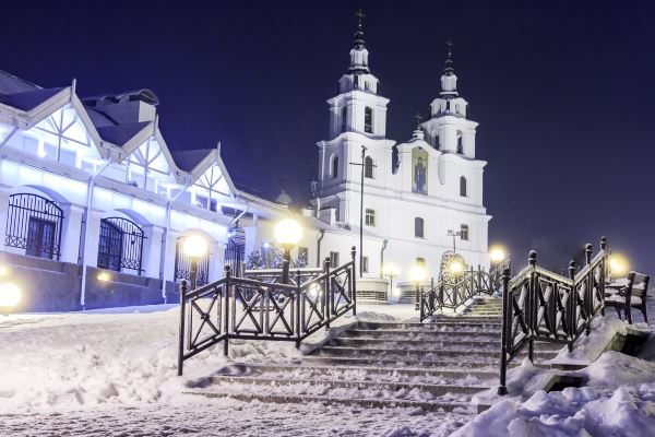 Minsk en Navidad