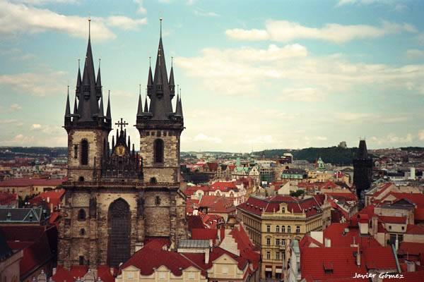 Vista de Praga - Iglesia Nuestra Señora de Tyn