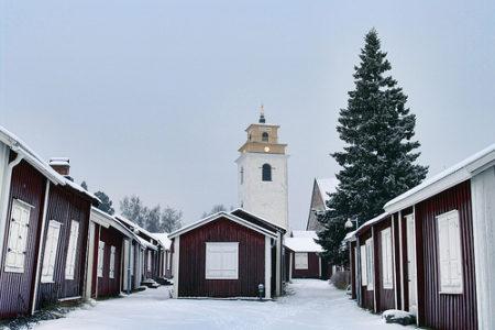 El pueblo-iglesia de Gammelstad, Patrimonio Mundial en Suecia