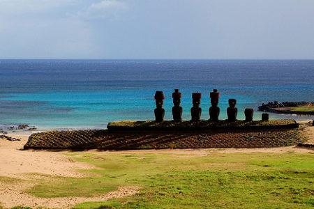 La Isla de Pascua, en el Pacífico Sur