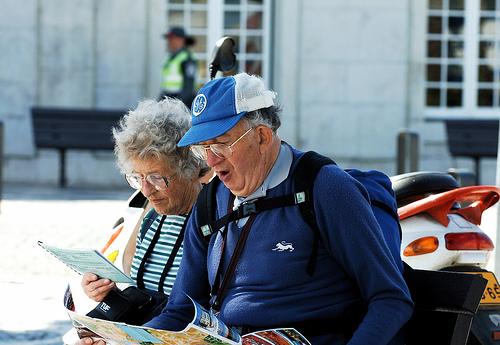 turistas mayores