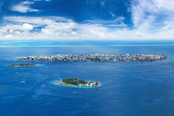 Vista aérea Ciudad Male
