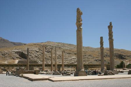 Las ruinas de Persépolis, en Irán