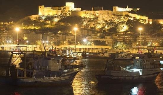 Puerto de Almeria de noche