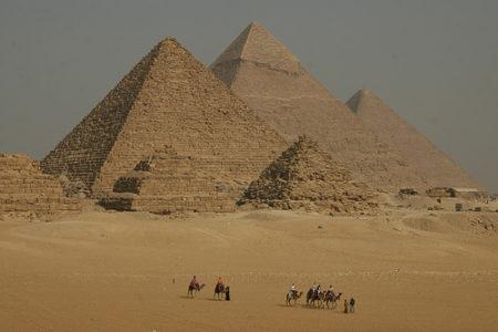 Las pirámides de Gizeh, en El Cairo