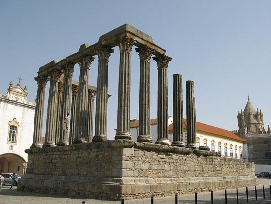 templo-romano en Evora