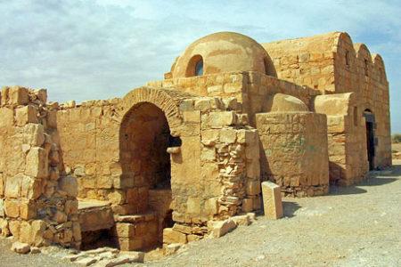 Qusair Amra, un castillo en el desierto de Jordania