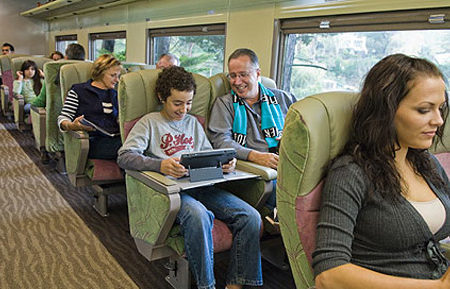 El Overland, de Melbourne a Adelaide en tren