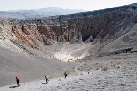 Cráteres Ubehere, desierto y calor en California