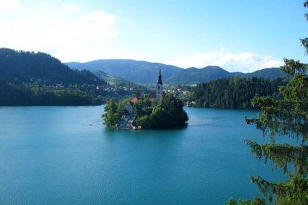 El lago Bled, destino en Eslovenia