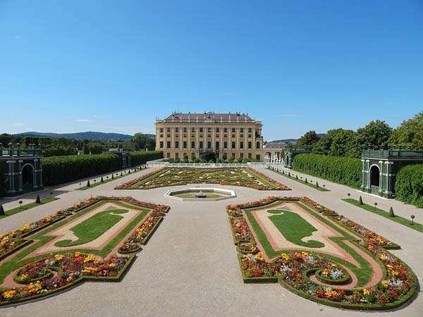 Palacio de Schonbrunn en Viena - jardines