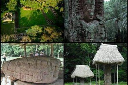Estelas mayas en el Parque Nacional Quiriguá