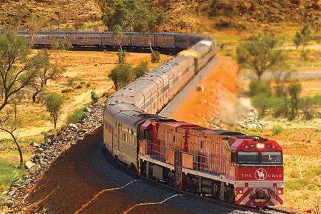El Ghan, uno de los mejores trenes turísticos de Australia