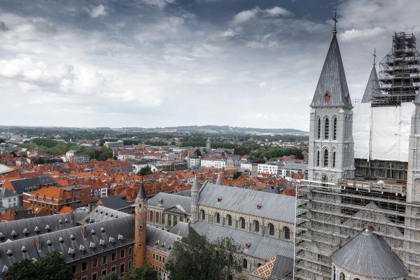 Vista de la catedral de Tournai