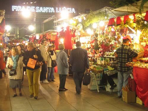 Feria de Santa Lucía en Barcelona