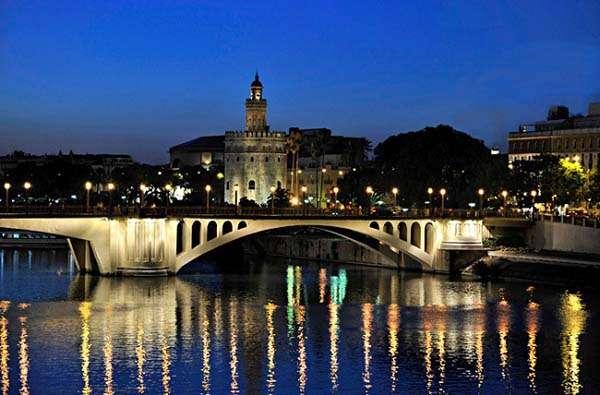 Momento azul en Sevilla