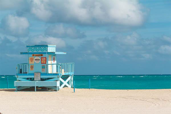 Miami costa playa