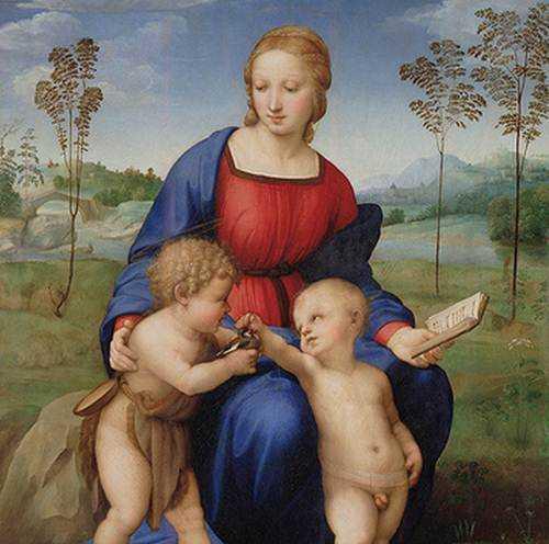 Madonna del Jilguero en la Galería Uffizi