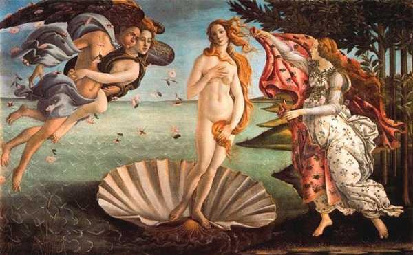 Nacimiento de Venus en Uffizi